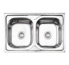 Кухонна мийка Lidz 5080 Polish 0,8 мм (LIDZ5080LPOL06)