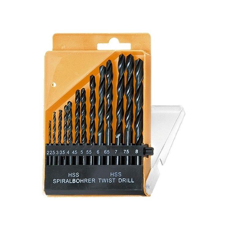 Набір свердел по металу, 2-8 мм (через 0,5 мм), HSS, 13 шт. циліндричний хвостовик 723355 - 1