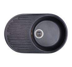 Мийка Fosto 74х46/740*460*180 колір SGA-420 чорний (без сифона)