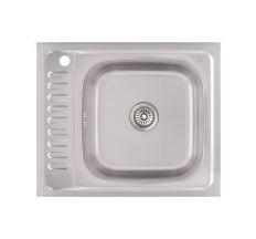 Кухонна мийка Lidz 6050-R Decor 0,6 мм (LIDZ6050R06DEC)