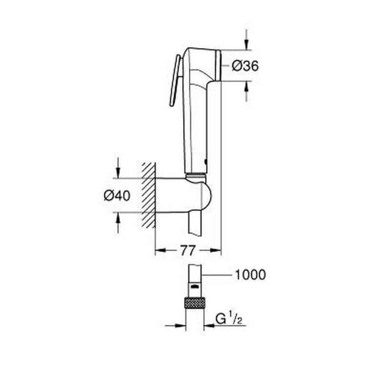Душовий набір Tempesta-F Trigger Spray 26352000 - 2