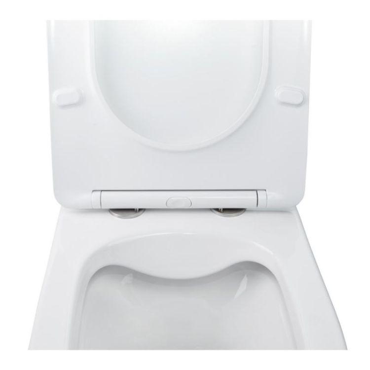 Комплект Qtap інсталяція Nest QTNESTM425M11CRM + унітаз з сидінням Swan QT16335178W + набір для гігієнічного душу зі змішувачем Form QTFORMCRM001AB - 6