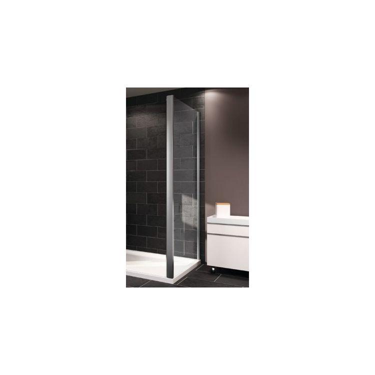 X1 стенка боковая 80см (профиль гл хром, стекло прозрачное) - 1