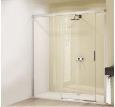 DESIGN ELEGANCE двері розсувні 160х190 см (проф гл хром,скло прозр Antipl) Функція Soft-Open-/Soft-Close