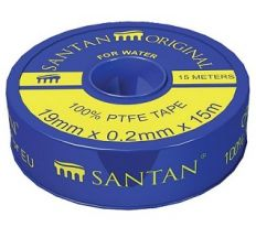 Фум стрічка SANTAN PROFI, синя 19 мм*0,2 мм*15 м