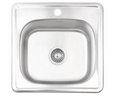 Кухонна мийка Lidz 4848 Satin 0,6 мм (LIDZ4848SAT06)