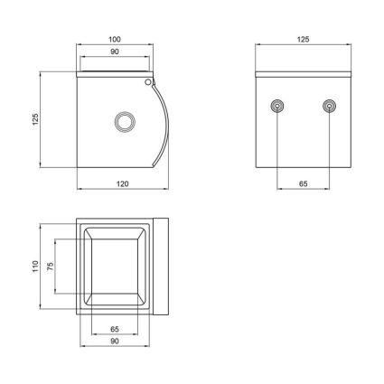 Тримач для туалетного паперу з кришкою Potato P300 - 2