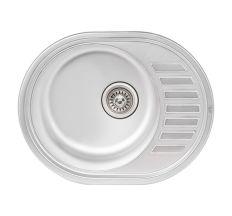 Кухонна мийка Qtap 5745 dekor 0,8 мм (QT5745MICDEC08)