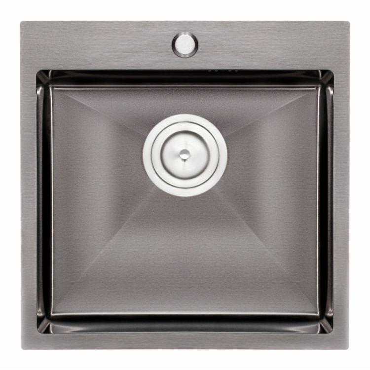 Кухонна мийка Qtap D5050BL 2.7/1.0 мм (QTD5050BLPVD10) - 1