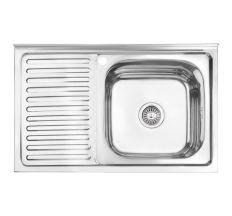 Кухонна мийка Lidz 5080-R Polish 0,8 мм (LIDZ5080RPOL06)