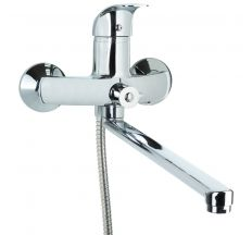 Смеситель SD Ø40 для ванны гусак прямой 350мм дивертор встроенный картриджный TAU (SD-2C243C)
