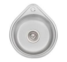 Кухонна мийка Lidz 4539 Satin 0,8 мм (LIDZ4539SAT8)
