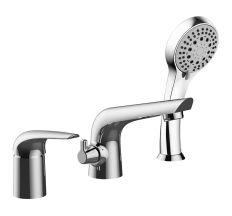 KRINICE змішувач для ванни, врізний, на три отвори, хром, 35 мм