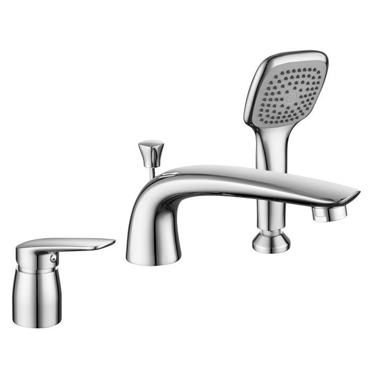 PRAHA new змішувач для ванни, врізний, на три отвори, хром, 35 мм - 1