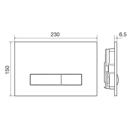 IMPRESE Комплект інсталяції 3в1(клавіша PANI хром) - 4