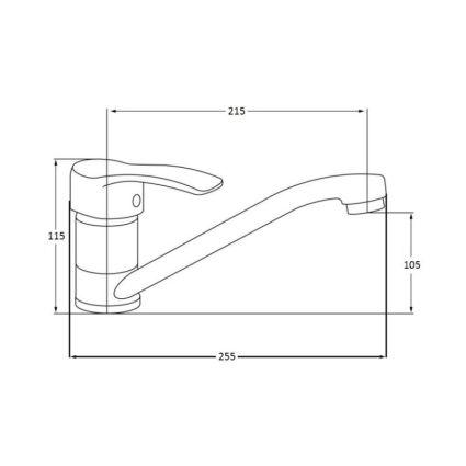 Смеситель для кухонной мойки Lidz (CRM)-20 38 003 00 - 2