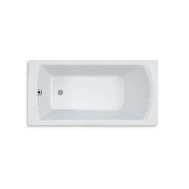 LINEA ванна 150*70см, акрилова, прямокутна, біла, з ніжками, обсяг 165л - 1