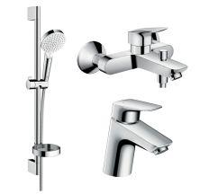 LOGIS набір змішувачів для ванни, умивальник 70 (71070000+71400000+26553400)