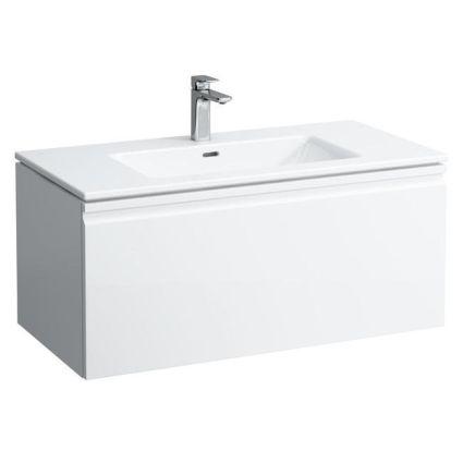PRO S комплект тумба+умивальник 100*50см (8179670001041+4835310964641), колір білий глянець - 1
