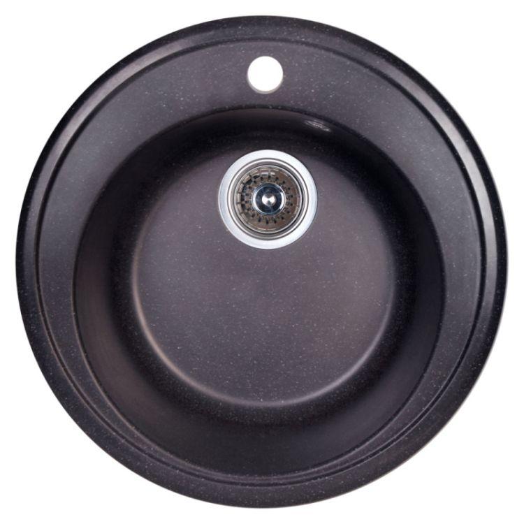 Мийка Fosto 510/510*180 колір SGA-420 чорний (без сифона) - 1