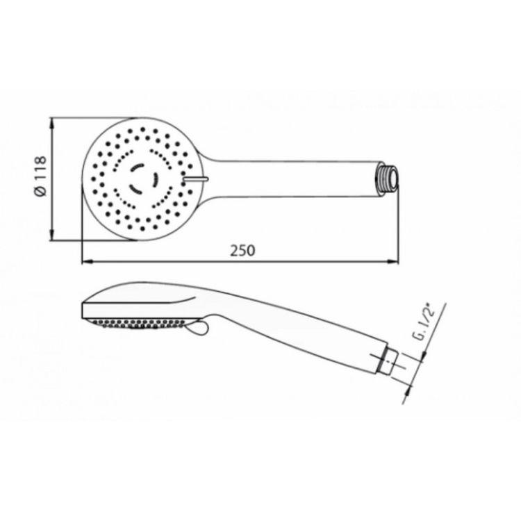 Лійка для ручного душу Bianchi DOCPLG2818CRM XL - 2