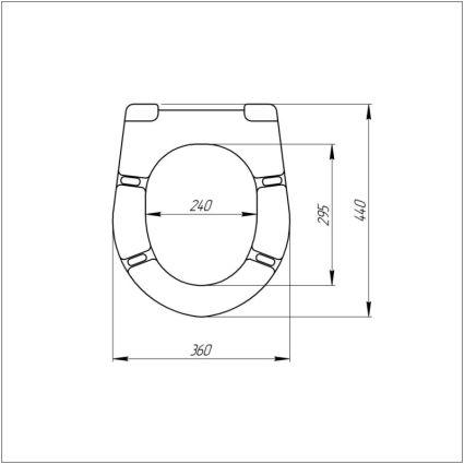 Сидіння для унітазу Azzurra Cult XCU1800F з мікроліфтом - 3