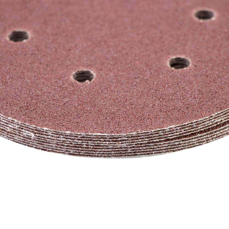Шлифовальный круг 6 отверстий Ø150мм P60 (10шт) Sigma (9122241) - 4
