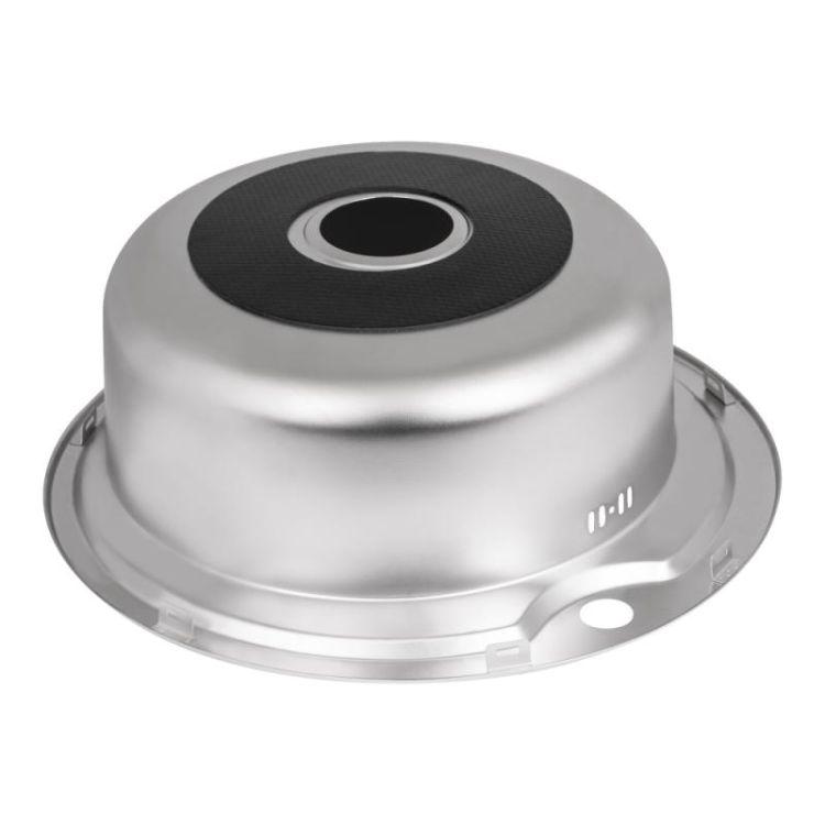 Кухонна мийка Lidz 510-D dekor 0,8 мм (LIDZ510DEC) - 5