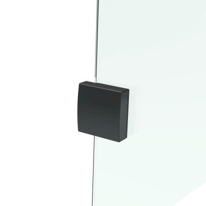 De la Noche Душова кабіна кутова 900*900*2000мм (скла+двері), права,орні, скло 8мм з Nano покриттям - 3