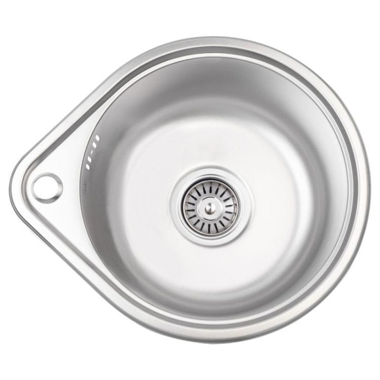 Кухонна мийка Lidz 4539 dekor 0,8 мм (LIDZ4539MDEC) - 1