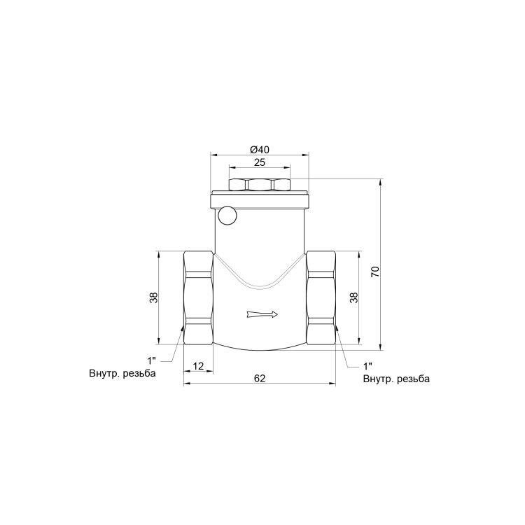 Зворотний клапан 1 лепест. Sandi - 2