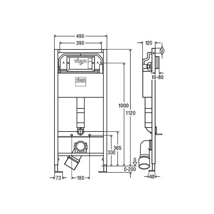 Комплект інсталяції для унітаза Prevista Dry 771973 (3 в 1), клавіша 773250 - 3