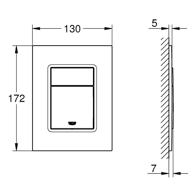 Rapid SL комплект 3в1 для підвісного унітазу (бачок, кріплення, кнопка хром - подвійний. злив 37535000) - 4