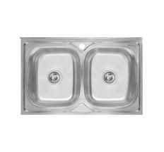 Кухонна мийка подвійна Imperial 6080 Decor (IMP6080DEC)