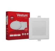 Светильник светодиод 6W 1-VS-5202 LED врезной квадратный Vestum 4000K 220V