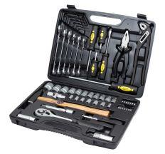 """Набір інструментів, ключів, насадок торцевих і біт Sigma¼"""", ½ """" 59шт CrV Taiwan (6001031)"""