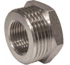 "Муфта 1/2""в - 3/8""в (15-3/8) нікель SANTAN"