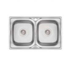 Кухонна мийка Lidz 7948 Micro Decor 0,8 мм (LIDZ7948MDEC08)