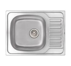 Кухонна мийка Qtap 6550 dekor 0,8 мм (QT6550MICDEC08)