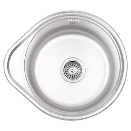 Кухонна мийка Lidz 4843 dekor 0,6 мм (LIDZ4843MDEC06) - 1