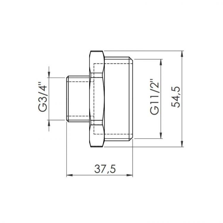 Ніпель Forte 1 1/2Нх3/4Н - 2