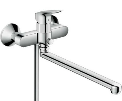 Logis Смеситель для ванны с длинным изливом, хром - 1