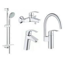 Набір змішувачів для кухні та ванної Grohe Eurosmart (23324001+33300002+27926001+33202002) 123248MK