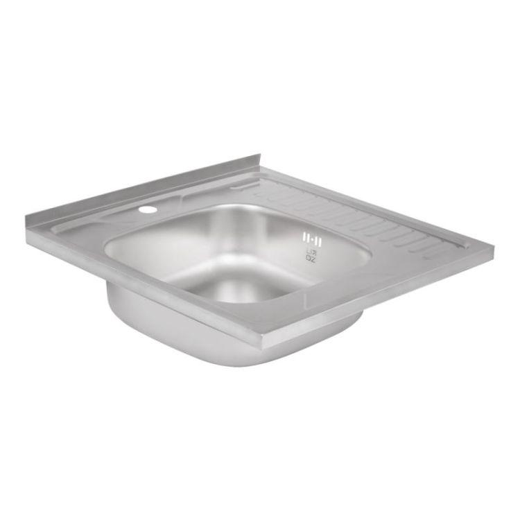 Кухонна мийка Lidz 6060-L Decor 0,6 мм (LIDZ6060LDEC06) - 4
