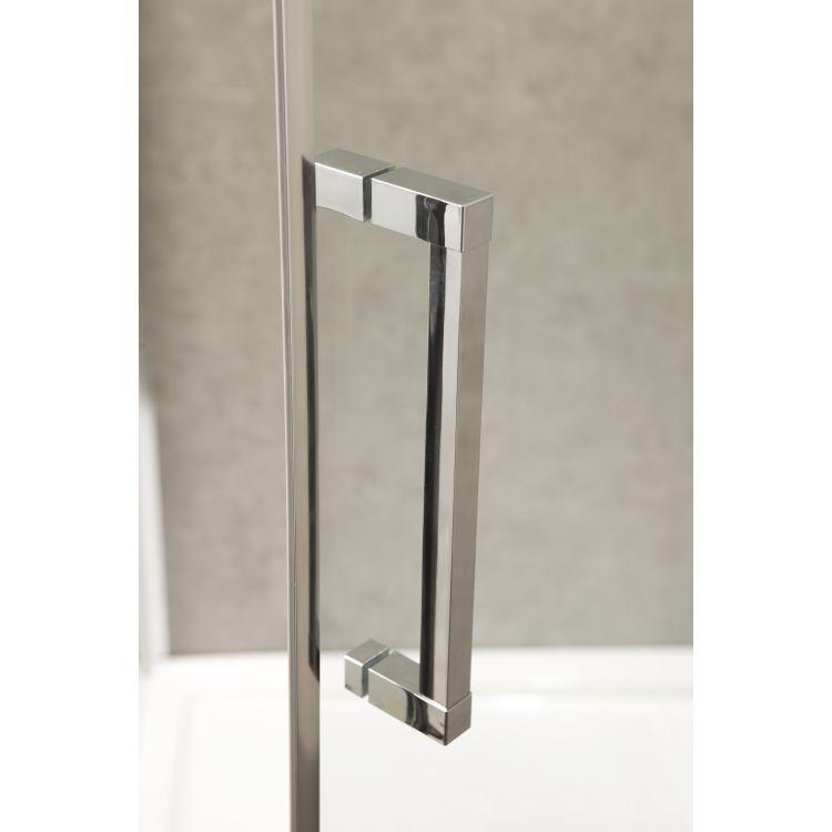 RUDAS душова кабіна квадратна 90*90*205 см, піддон (PUF) 5 см (з сифоном), орні, скло прозоре, права - 8