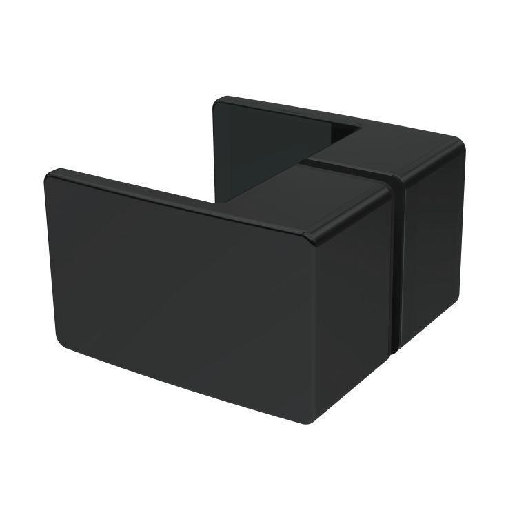 De la Noche Душова кабіна кутова 900*900*2000мм (скла+двері), права,орні, скло 8мм з Nano покриттям - 5