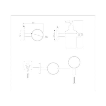 Дозатор для рідкого мила Lidz (CRG)-116.02.02 - 2