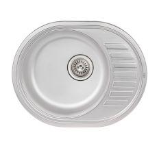 Кухонна мийка Qtap 5745 Satin 0,8 мм (QT5745SAT08)