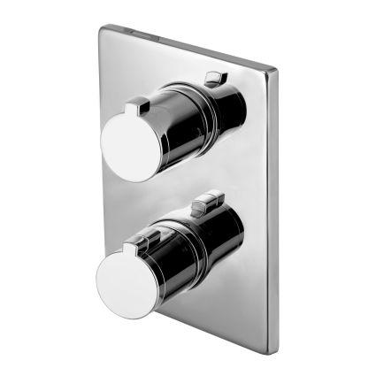 CENTRUM змішувач для ванни, термостат, прихований монтаж (3 споживача) - 1