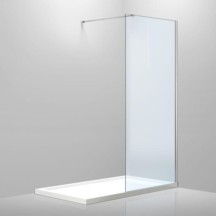 Стінка 1000*2000 мм, гартоване прозоре скло 8мм - 1